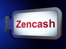 Cryptocurrency begrepp: Zencash på affischtavlabakgrund Arkivfoto