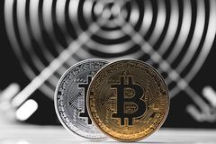 Cryptocurrency Bitcoin Arkivfoto