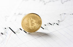 Cryptocurrency. bitcoin coin royalty free stock photography