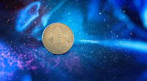 Cryptocurrency. Bitcoin Stock Growth. Chart shows a strong increase in the price of bitcoin