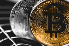 Cryptocurrency Bitcoins стоковая фотография