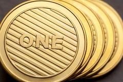 Cryptocurrency, blockchain technologia, handel elektroniczny obrazy royalty free