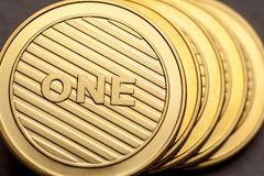 Cryptocurrency blockchainteknologi, e-kommers royaltyfria bilder
