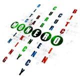 Cryptocurrency concept: Monero in Crossword Puzzle. Cryptocurrency concept: Pixelated green word Monero in solving Crossword Puzzle on Digital background Stock Photos