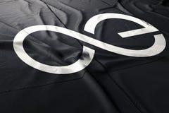 Cryptocurrency 3d d'Aeternity EA rendre le drapeau illustration de vecteur