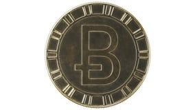 Cryptocurrency - 3D beeldspraak van Bitcoin royalty-vrije illustratie