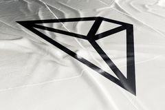 Cryptocurrency 3d de Tron TRX rendre le drapeau illustration libre de droits