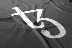 Cryptocurrency 3d Tezos XTZ Flagge übertragen lizenzfreie abbildung