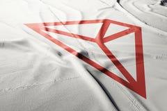 Cryptocurrency 3d Tron TRX представить флаг иллюстрация вектора