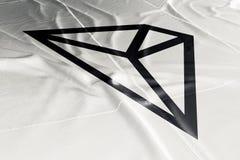 Cryptocurrency 3d Tron TRX представить флаг бесплатная иллюстрация