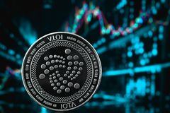 Cryptocurrency da moeda do Iota fotos de stock