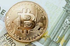 Cryptocurrency de Bitcoin da baixa estação ou do mercado bearish, segunda-feira digital fotografia de stock