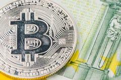 Cryptocurrency de Bitcoin de la estación baja o del mercado bajista, dinero digital Fotos de archivo libres de regalías