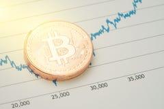 Cryptocurrency de Bitcoin, mercado digital co da rotação do preço do dinheiro imagens de stock royalty free