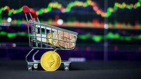 Cryptocurrency; de digitale munt royalty-vrije stock afbeelding
