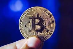 Cryptocurrency del bitcoin del minatore immagine stock