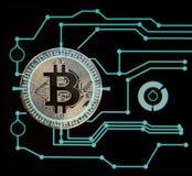 Cryptocurrency digitale di Bitcoin Immagine Stock Libera da Diritti