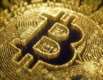 Cryptocurrency Digitale Globale Zaken stock illustratie