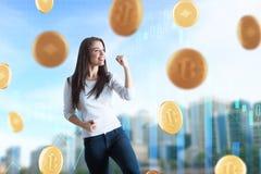 Cryptocurrency e conceito da riqueza fotos de stock