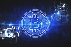 Cryptocurrency e concetto dei soldi Fotografia Stock