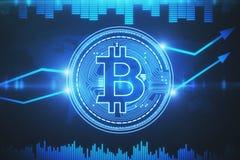Cryptocurrency e concetto del Cyberspace Fotografia Stock Libera da Diritti