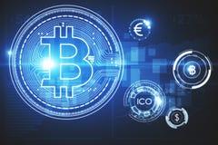 Cryptocurrency e concetto del mercato Fotografia Stock Libera da Diritti