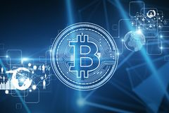 Cryptocurrency e concetto di affari Immagini Stock