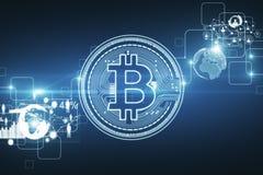 Cryptocurrency e concetto di attività bancarie Immagini Stock