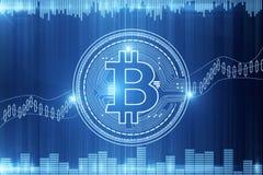 Cryptocurrency e concetto di commercio elettronico Fotografia Stock Libera da Diritti