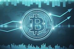 Cryptocurrency e concetto di economia Fotografie Stock