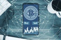 Cryptocurrency e concetto di finanza immagine stock libera da diritti