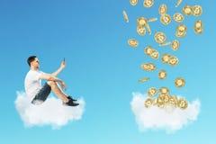 Cryptocurrency e concetto di finanza immagini stock