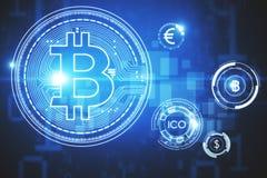 Cryptocurrency e concetto di pagamento Fotografie Stock Libere da Diritti