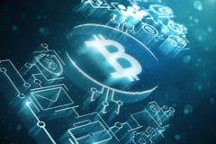 Cryptocurrency e struttura di finanza illustrazione vettoriale