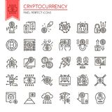 Cryptocurrency Elements Royalty Free Stock Images