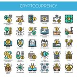 Cryptocurrency Elements ,   Pixel Perfect Icons Royalty Free Stock Photos
