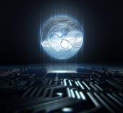 Cryptocurrency en Kringsraad royalty-vrije illustratie