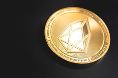 Cryptocurrency EOS-mynt royaltyfri bild