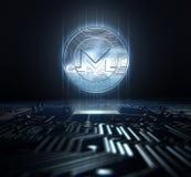 Cryptocurrency et carte Photos stock