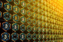 Cryptocurrency et concept d'opérations bancaires Images libres de droits