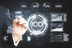 Cryptocurrency et concept de bitcoin Photo libre de droits