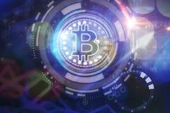 Cryptocurrency et concept de finances Images libres de droits