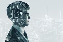 Cryptocurrency et concept de finances Photo libre de droits