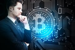 Cryptocurrency et concept de finances Image libre de droits