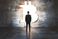 Cryptocurrency et concept de finances Photographie stock libre de droits