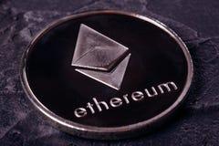Cryptocurrency Ethereum do close-up fotos de stock royalty free