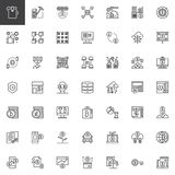 Cryptocurrency and fintech outline icons set. Linear style symbols collection, line signs pack. vector graphics. Set includes icons as cryptocurrency fintech Stock Images