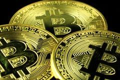 Cryptocurrency futuro de Bitcoin imagenes de archivo