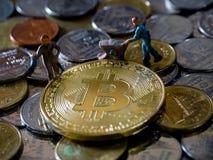 Cryptocurrency górniczy pojęcie Fotografia Royalty Free