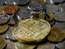 Cryptocurrency górniczy pojęcie Zdjęcia Stock